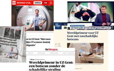 UZ Gent earns publicity with BoneMRI